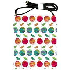 Watercolor Floral Roses Pattern Shoulder Sling Bags