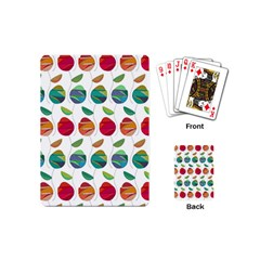 Watercolor Floral Roses Pattern Playing Cards (Mini)