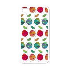 Watercolor Floral Roses Pattern Apple iPhone 4 Case (White)
