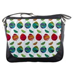 Watercolor Floral Roses Pattern Messenger Bags Front