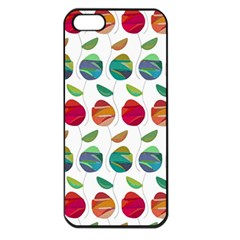 Watercolor Floral Roses Pattern Apple iPhone 5 Seamless Case (Black)