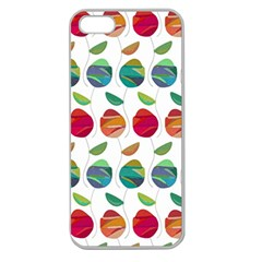 Watercolor Floral Roses Pattern Apple Seamless Iphone 5 Case (clear)