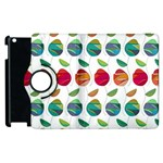 Watercolor Floral Roses Pattern Apple iPad 2 Flip 360 Case Front