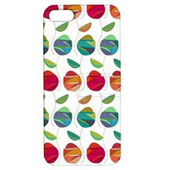 Watercolor Floral Roses Pattern Apple Iphone 5 Hardshell Case With Stand