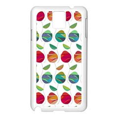 Watercolor Floral Roses Pattern Samsung Galaxy Note 3 N9005 Case (White)
