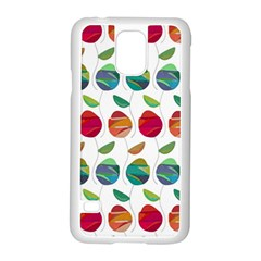 Watercolor Floral Roses Pattern Samsung Galaxy S5 Case (White)
