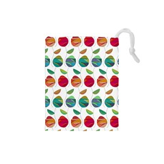 Watercolor Floral Roses Pattern Drawstring Pouches (small)