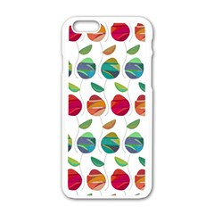 Watercolor Floral Roses Pattern Apple Iphone 6/6s White Enamel Case