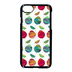 Watercolor Floral Roses Pattern Apple Iphone 7 Seamless Case (black)