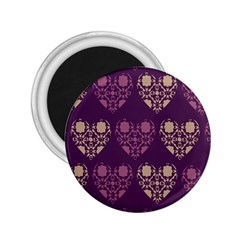 Purple Hearts Seamless Pattern 2 25  Magnets