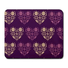 Purple Hearts Seamless Pattern Large Mousepads