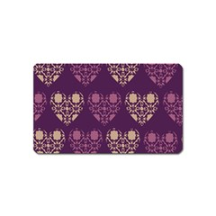 Purple Hearts Seamless Pattern Magnet (name Card)