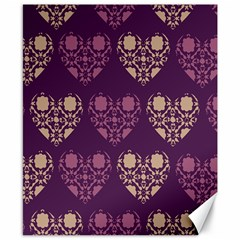 Purple Hearts Seamless Pattern Canvas 8  X 10