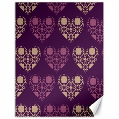 Purple Hearts Seamless Pattern Canvas 18  X 24