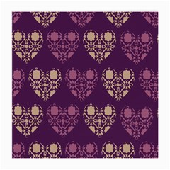 Purple Hearts Seamless Pattern Medium Glasses Cloth