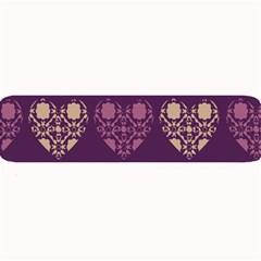 Purple Hearts Seamless Pattern Large Bar Mats