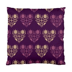 Purple Hearts Seamless Pattern Standard Cushion Case (one Side)