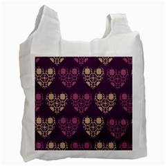 Purple Hearts Seamless Pattern Recycle Bag (one Side)