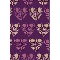 Purple Hearts Seamless Pattern 5.5  x 8.5  Notebooks