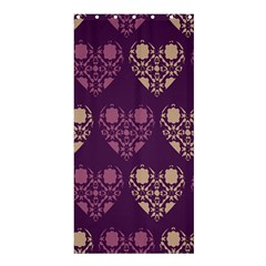 Purple Hearts Seamless Pattern Shower Curtain 36  x 72  (Stall)