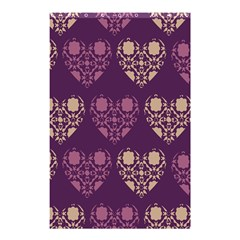 Purple Hearts Seamless Pattern Shower Curtain 48  x 72  (Small)