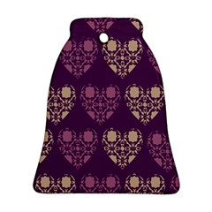 Purple Hearts Seamless Pattern Bell Ornament (Two Sides)