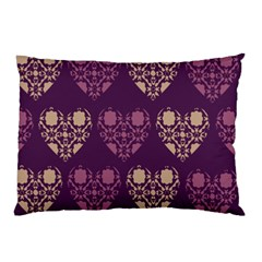 Purple Hearts Seamless Pattern Pillow Case (two Sides)