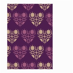 Purple Hearts Seamless Pattern Small Garden Flag (two Sides)