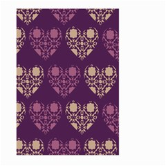 Purple Hearts Seamless Pattern Large Garden Flag (Two Sides)