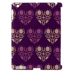 Purple Hearts Seamless Pattern Apple Ipad 3/4 Hardshell Case (compatible With Smart Cover)
