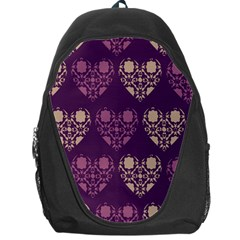 Purple Hearts Seamless Pattern Backpack Bag