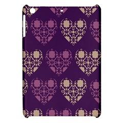 Purple Hearts Seamless Pattern Apple Ipad Mini Hardshell Case
