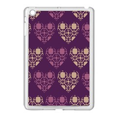 Purple Hearts Seamless Pattern Apple Ipad Mini Case (white)