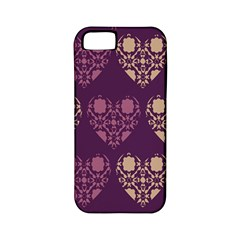 Purple Hearts Seamless Pattern Apple Iphone 5 Classic Hardshell Case (pc+silicone)