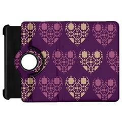 Purple Hearts Seamless Pattern Kindle Fire Hd 7