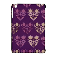 Purple Hearts Seamless Pattern Apple Ipad Mini Hardshell Case (compatible With Smart Cover)