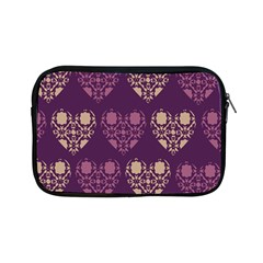 Purple Hearts Seamless Pattern Apple iPad Mini Zipper Cases