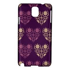 Purple Hearts Seamless Pattern Samsung Galaxy Note 3 N9005 Hardshell Case