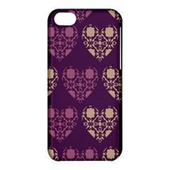 Purple Hearts Seamless Pattern Apple Iphone 5c Hardshell Case