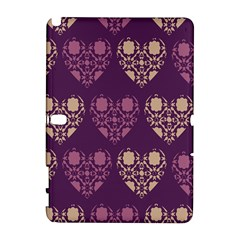Purple Hearts Seamless Pattern Galaxy Note 1
