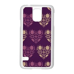 Purple Hearts Seamless Pattern Samsung Galaxy S5 Case (white)