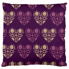 Purple Hearts Seamless Pattern Standard Flano Cushion Case (Two Sides)