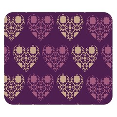 Purple Hearts Seamless Pattern Double Sided Flano Blanket (Small)