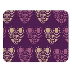 Purple Hearts Seamless Pattern Double Sided Flano Blanket (Large)
