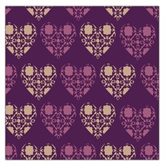 Purple Hearts Seamless Pattern Large Satin Scarf (Square)