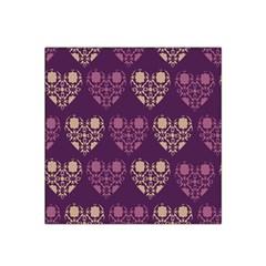 Purple Hearts Seamless Pattern Satin Bandana Scarf
