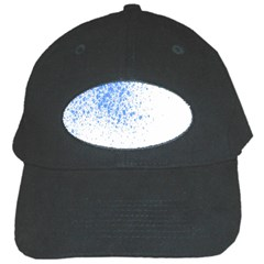 Blue Paint Splats Black Cap