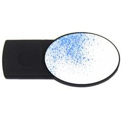 Blue Paint Splats USB Flash Drive Oval (2 GB)
