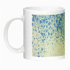 Blue Paint Splats Night Luminous Mugs