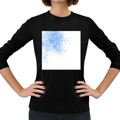 Blue Paint Splats Women s Long Sleeve Dark T-Shirts